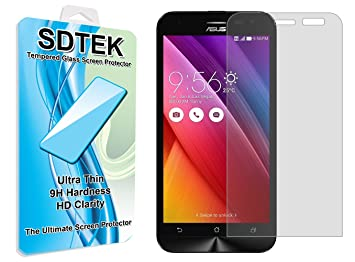 SDTEK ASUS Zenfone 2 Laser ZE500KL Protector de Pantalla Cristal Vidrio Templado Glass Screen Protector