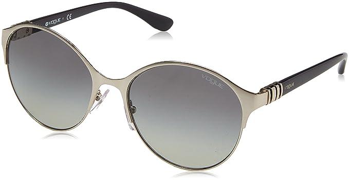 Vogue 0vo4049s 323/11 55 Gafas de sol, Silver, Mujer: Amazon ...