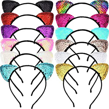 Apparel Accessories 1 Pc Reversible Sequins Hairbands Colorful Glitter Sequin Headbands Novelty Headwear For Women