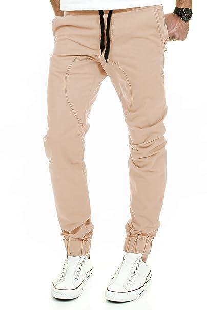 d25f80eeec118c Merish Jogging Chino Uomo Baggy Pants Pantaloni Modello j2054 Beige Beige:  Amazon.it: Abbigliamento