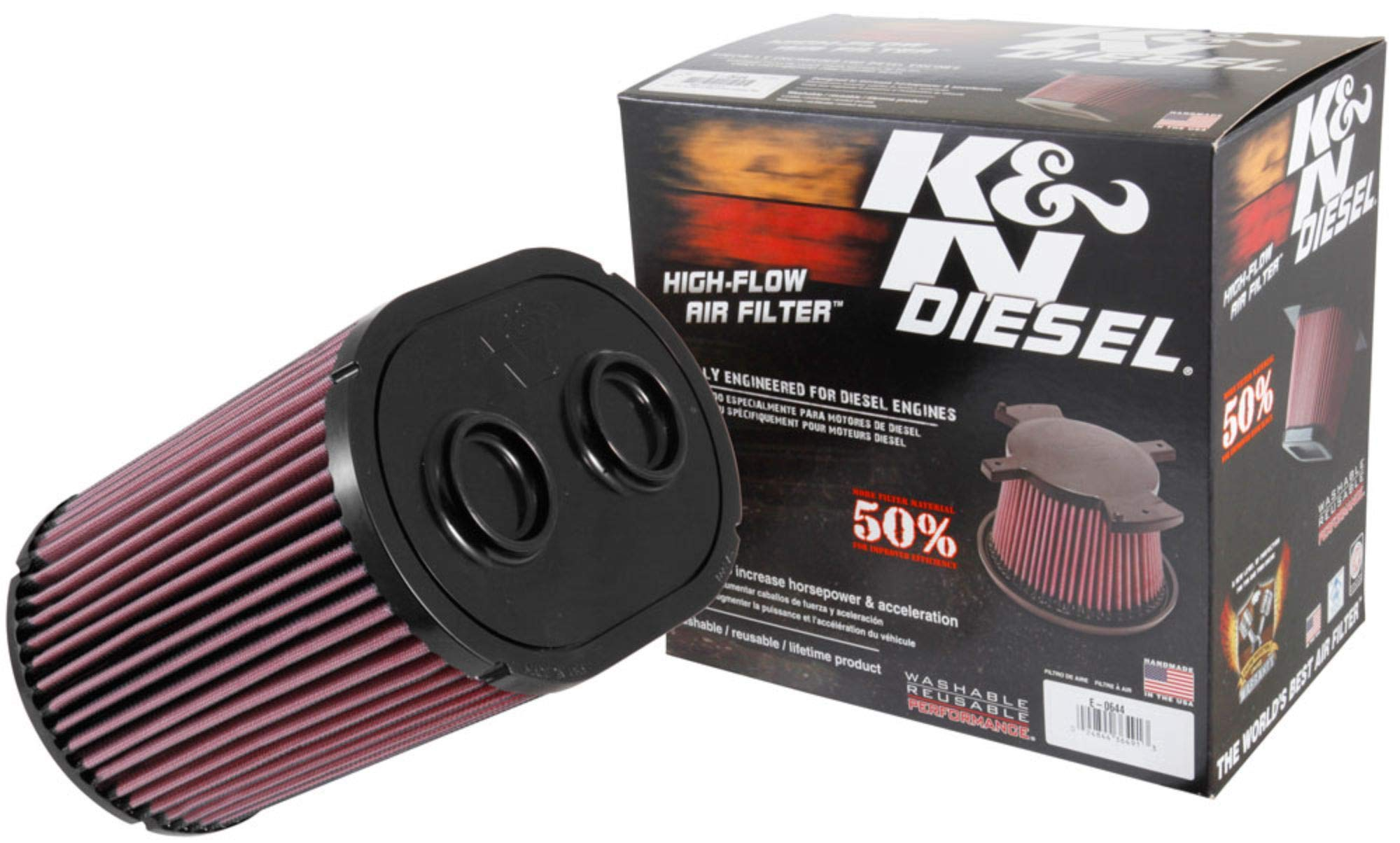 K/&N engine air filter washable and reusable 2017-2019 Honda Civic Type R 33-5070