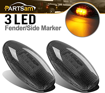 For 99-12 CHEVY GMC LED Side Dually Bed Rear Replacement Fender Marker Light