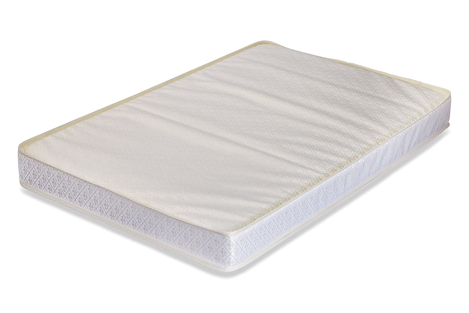 LA Baby 3 Portable/Mini Crib Mattress with Organic Cotton Layer - Made in USA with Waterproof, Easy to Clean, Hypo-Allergenic, Anti-Microbial & Non-Toxic Cover, 24 x 38 - Made in USA P-3508-ORG