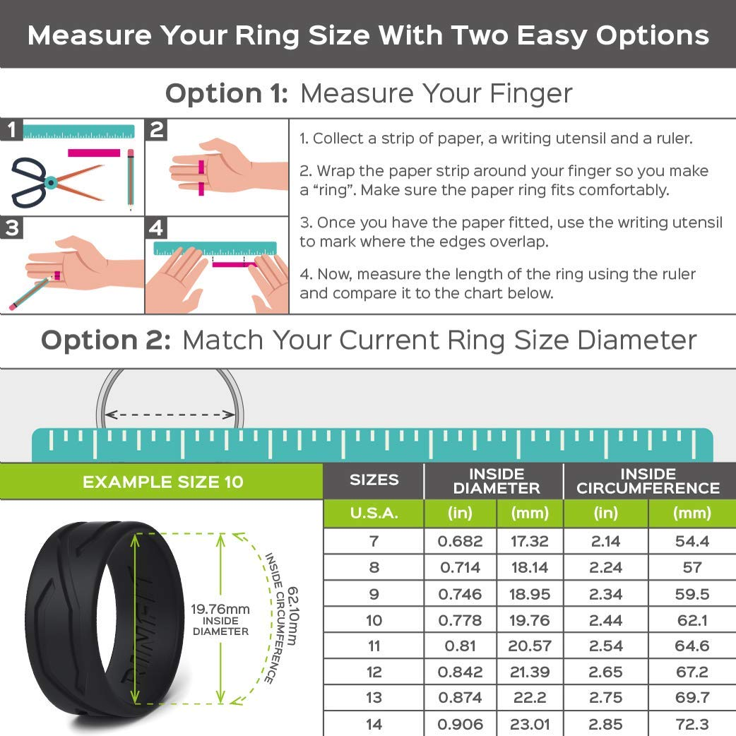 Metallic Colors Rinfit Silicone Wedding Ring for Men 3 Rings Pack Design Patent U.S Designed Silicon Rubber Bands Comfortable and Durable Wedding Band Replacement