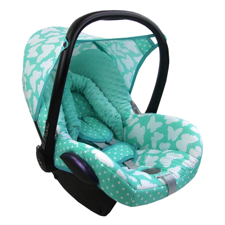 Bambiniwelt Ersatzbezug Für Maxi Cosi Cabriofix 6 Tlg Minky Mb 10 Bezug Für Babyschale Komplett Set Xx Baby