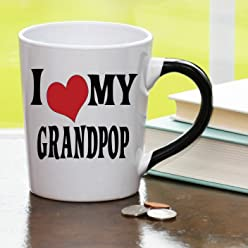 I Heart My Grandpop, Grandpop Coffee Cup, Grandpop Funny Mug, Grandpop Gifts By Tumbleweed