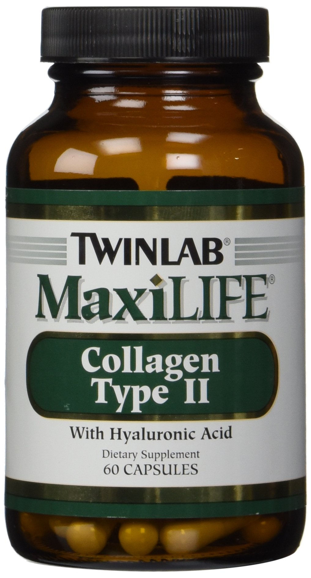 Twinlab MaxiLife Collagen Type II with Hyaluronic Acid, 60 Capsules