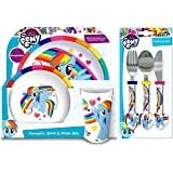 My Little Pony 6-Piece Dinner Set | Tumbler, Bowl, Plate, Knife, Fork and Spoon