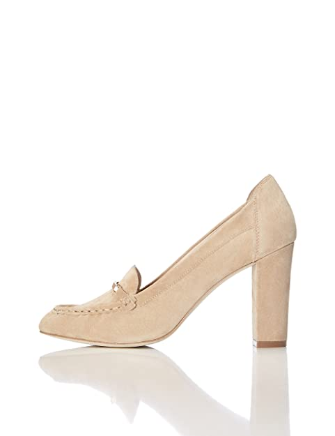 bee2753f70314b FIND Damen Loafer-Pumps aus Leder  Amazon.de  Schuhe   Handtaschen