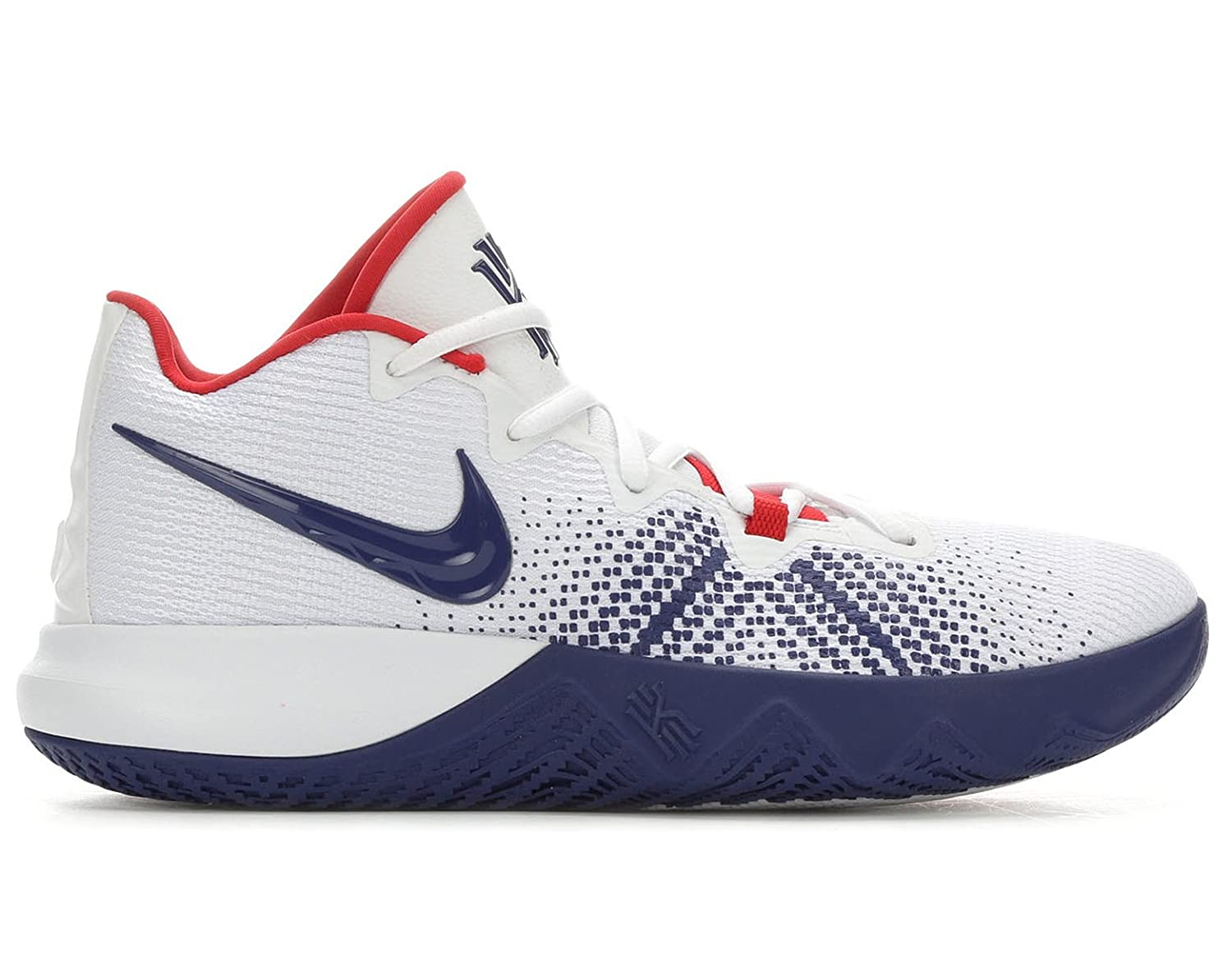 the best attitude 1daf4 03ae5 Amazon.com   NIKE Men s Kyrie Flytrap Basketball Shoes, (White Blue, 11 D  (M) US)   Fashion Sneakers