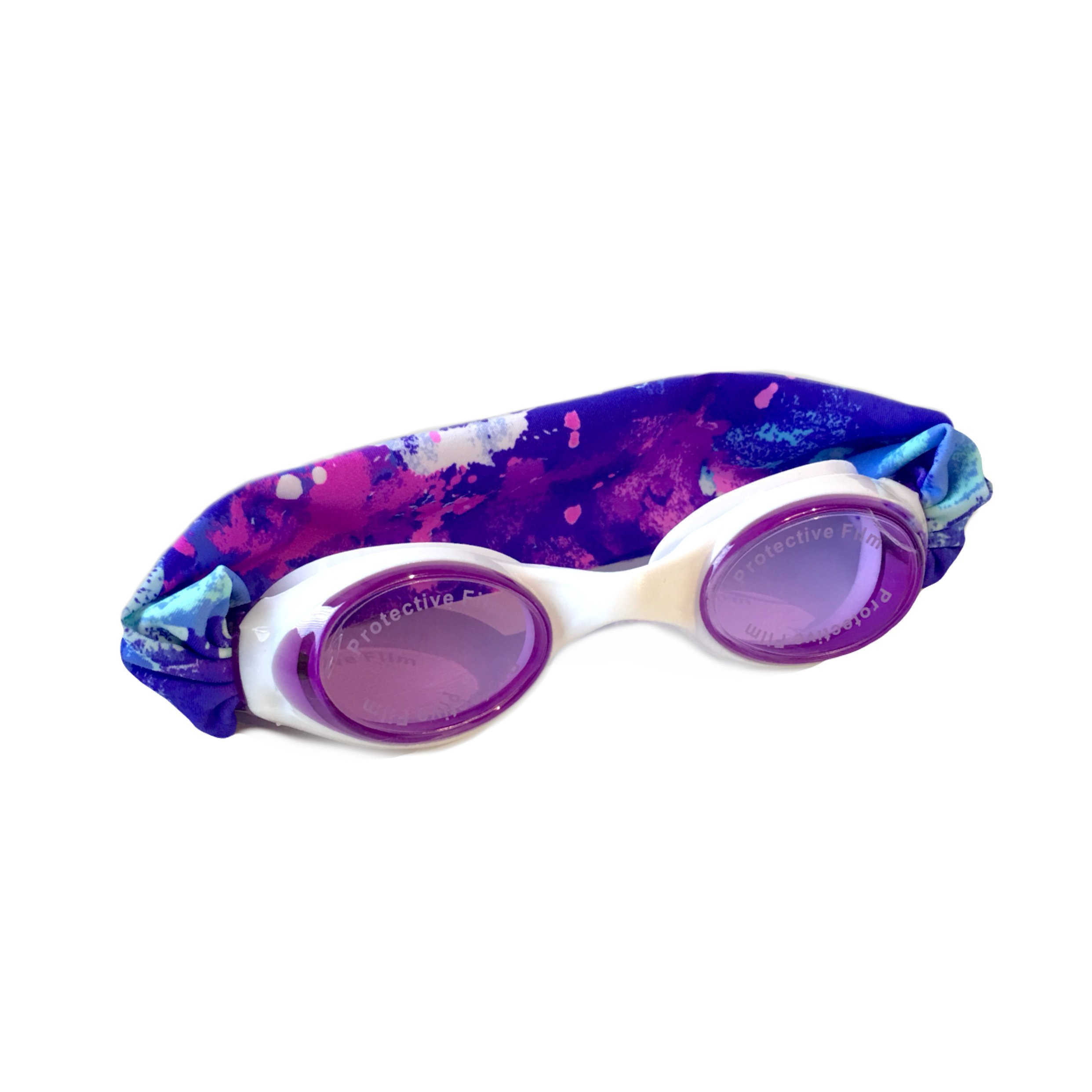 SPLASH Swim Goggles Splash Unicorn Comfortable, Fashionable, Fun - Fits Kids & Adults - Won't Pull Your Hair - Easy to Use - High Visibility Anti-Fog Lenses - Patent Pending