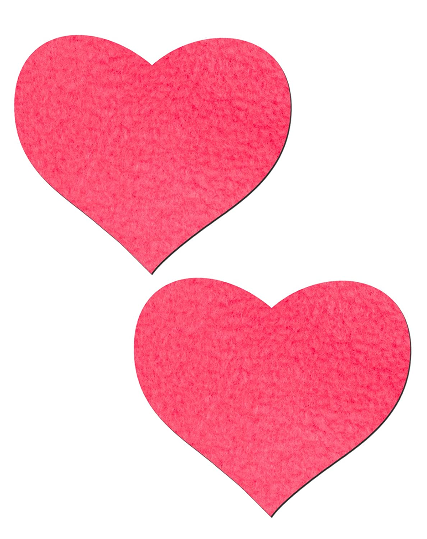 Amazon.com: Neon Pink day-glow Lycra Corazón pezón Pasties ...