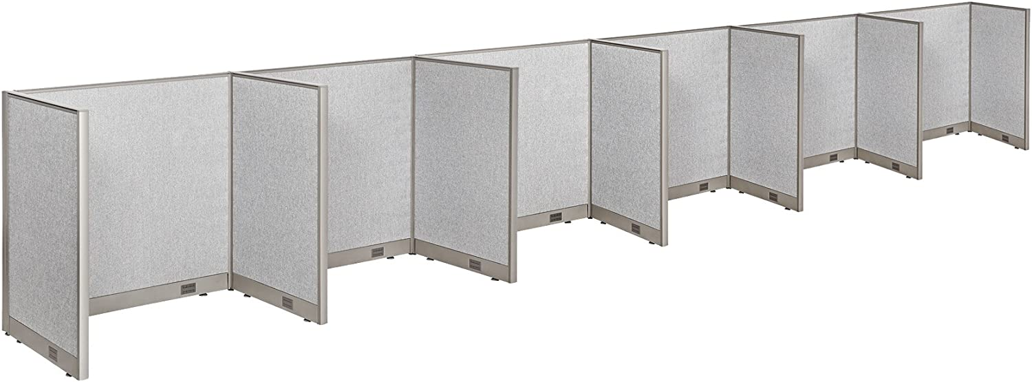 """GOF Cubicle Single 6 Station Office Partition, Large Fabric Room Divider Panel Workstation, 30""""D x 48""""W x 48""""H"""