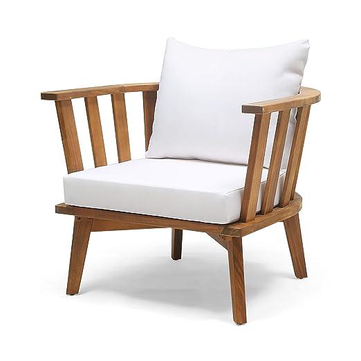 Amazon.com: Great Deal Furniture Dean - Silla de madera con ...