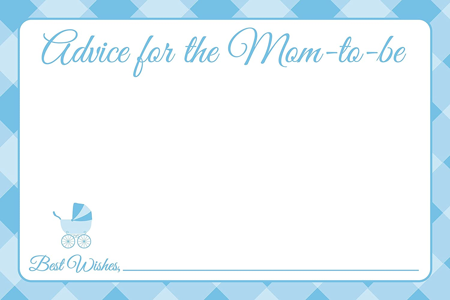 Amazoncom Jot Mark Baby Shower Advice Cards For New Moms 25