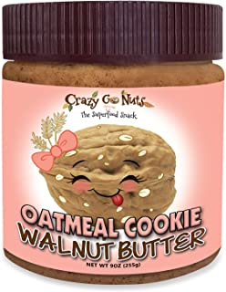 product image for Crazy Go Nuts Walnut Butter - Oatmeal Cookie, 9 oz (1-Pack) - Healthy Snacks, Keto, Vegan, Low Carb, Gluten Free, Superfood - Natural, Non-GMO, ALA, Omega 3 Fatty Acids, Good Fats and Antioxidants