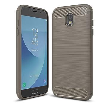 LXHGrowH Funda Samsung Galaxy J7 2017, [Ultra Delgada] Carcasa para Samsung Galaxy J7 2017 SM-J730F Cover Silicona TPU Protectora Color Gris