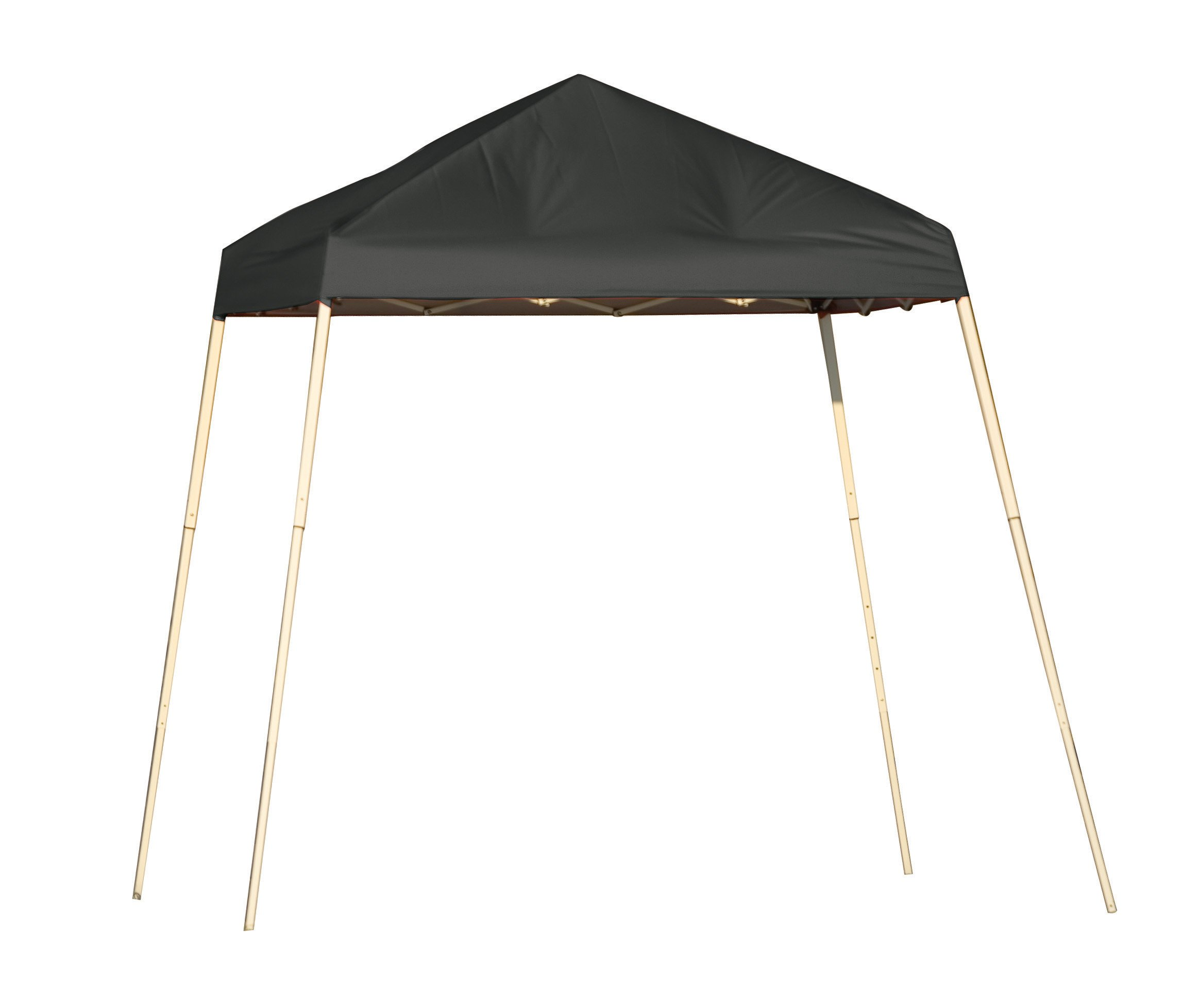 ShelterLogic Slant Leg Pop-Up Canopy with Carry Bag, Black, 8 x 8 ft.