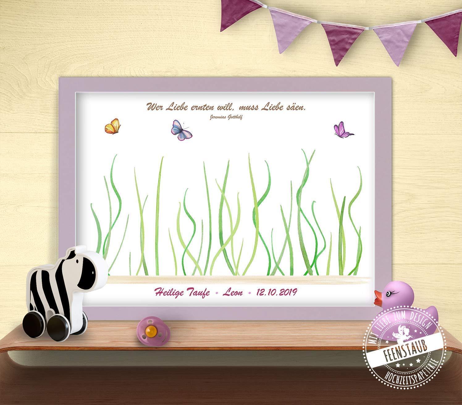 Fingerabdruck Bild Blumen Für Taufe Gästebuch Alternative