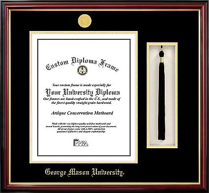 Campus Images Va997pmhgt George Mason University Tassel Box And Diploma Frame 14 X 10 Amazon Com