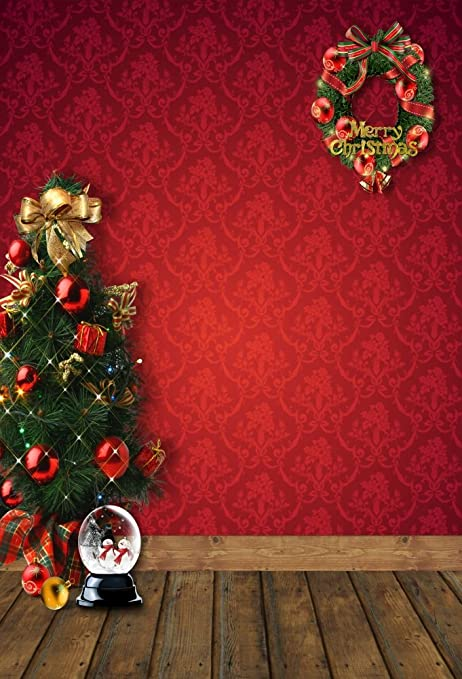 Christmas Background Portrait.Aofoto 4x6t Merry Christmas Backdrops Holiday Tree Decoration Photography Background New Year Garland Xmas Wreath Interior Chic Floral Pattern Wall