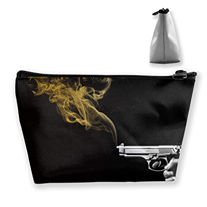 b6f9a909ffda Amazon.com: customgogo Women's Smoking Gun Travel Makeup Bags ...