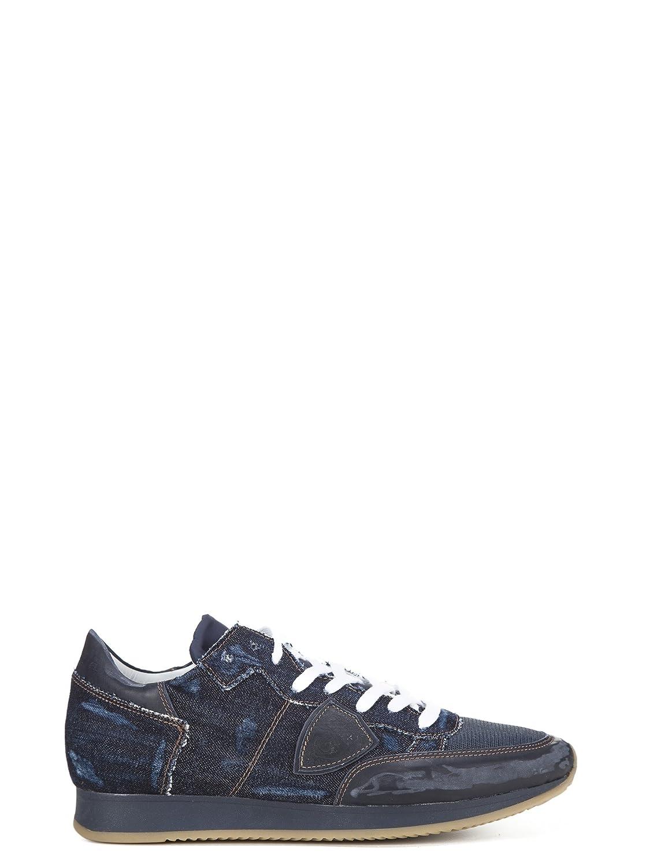 Philippe Model メンズ TRLUJW01 ブルー ファブリック 運動靴 B07DBT1PDK