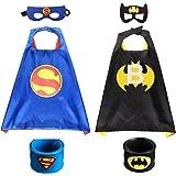 2Pcs Capa de Superhéroe para Niños - 2 Capa y 2 Máscaras 2 Pulsera de silicona -Halloween Ideas Kit de Valor de Cosplay…