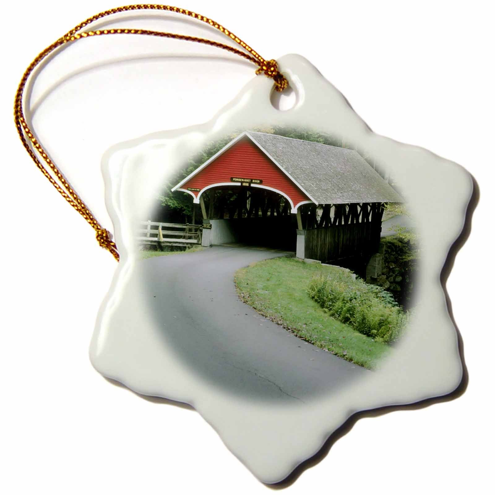 3dRose New Hampshire, White Mountains, Franconia Notch US30 KSC0002 Kevin Schafer Snowflake Ornament, 3''