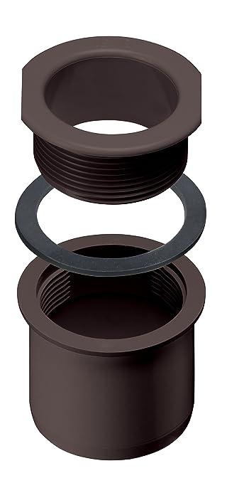 45/° Anthrazitgrau INEFA Rohrbogen DN 50 Regenrinne Kunststoff Dachrinne