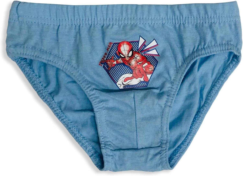 3 Slips ni/ño Spiderman 100/% algod/ón Sun City