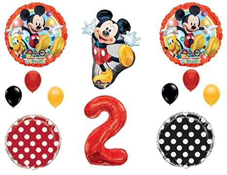 Amazon 2nd MICKEY MOUSE Two Dles Birthday Party Balloons Decoration Supplies Second Disney Everything Else