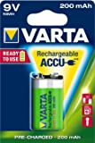 Varta Power Accu NiMH Akku 9V-Block 200 mAh