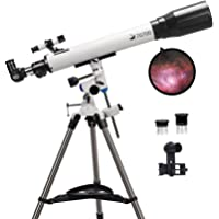 Telescopes for Adults, 70mm Aperture and 700mm Focal Length Professional Astronomy Refractor Telescope for Kids and…