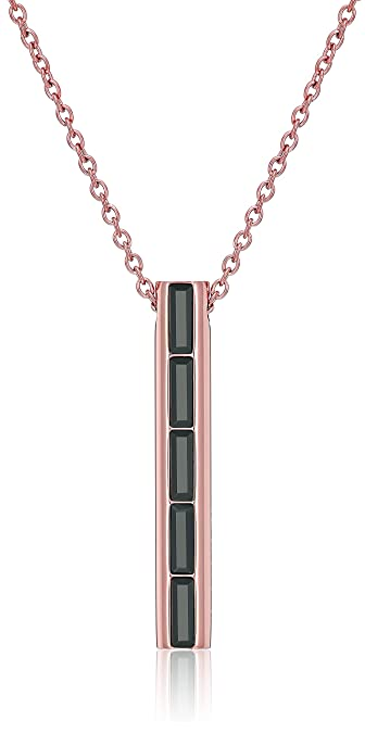 dddb552678955 Amazon.com  Michael Kors Rose Gold Black Tie Affair Lobster Clasp Pendant  Necklace  Jewelry