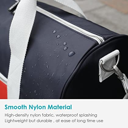 8747715617d REYLEO Sports Gym Bag Small Travel Duffel Bag Water Resistant Bags with Leather  Handle Color Blocking