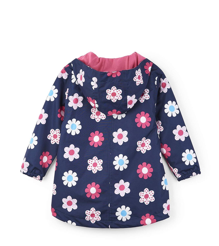 Hatley Kids Baby Girls Spring Flowers Microfiber Rain Jacket Toddler//Little Kids//Big Kids