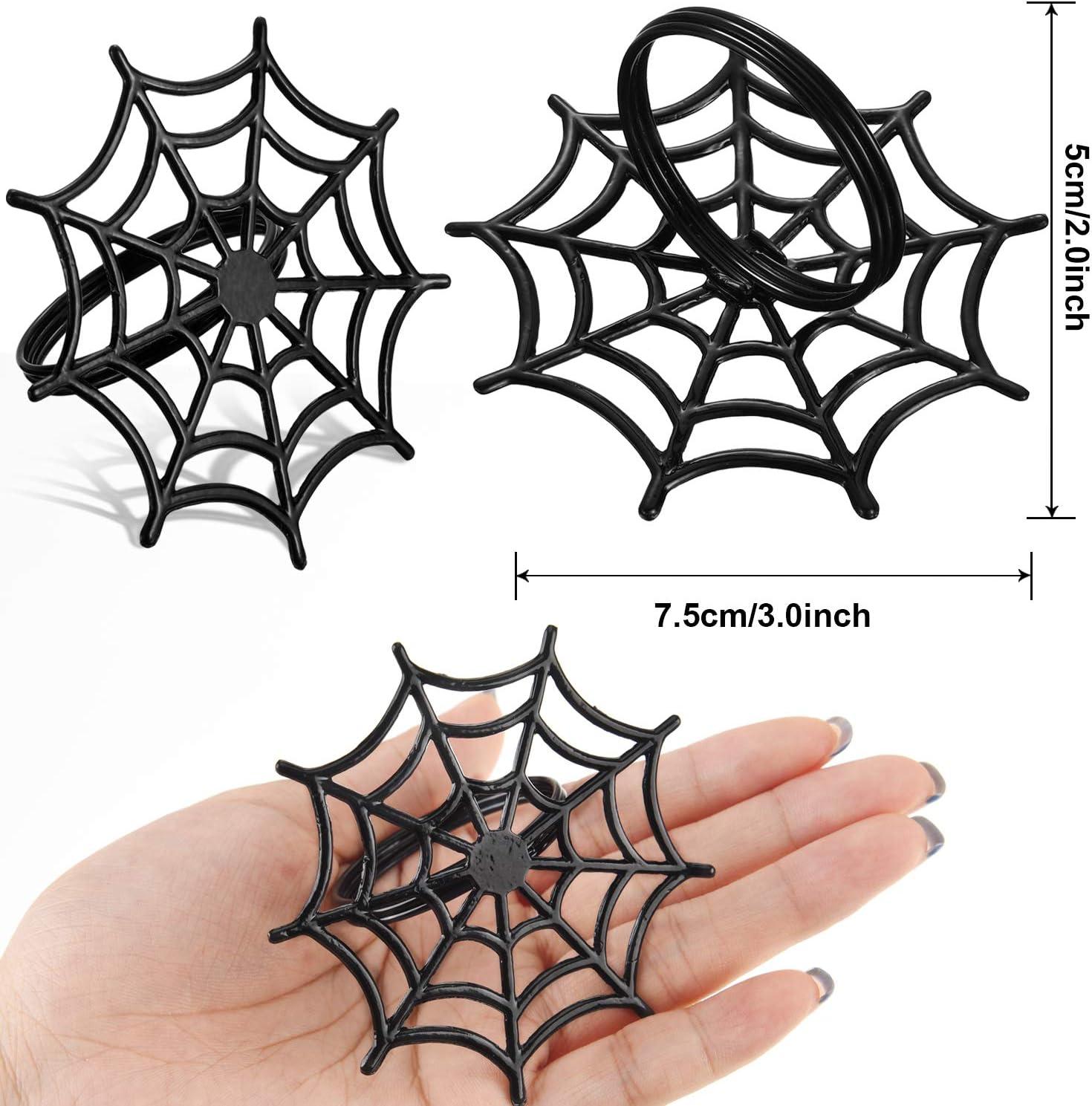Halloween Spider Web Napkin Rings Set of 6 Parties