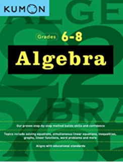 Amazon math grade 6 skill builders 0044222208875 carson algebra grades 6 8 kumon math workbooks fandeluxe Image collections