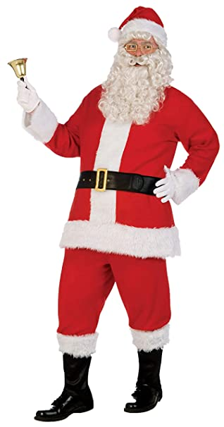 Forum Novelties Mens Santa Claus Costume Flannel Suit