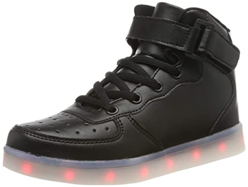 b97726bf039 FLARUT Kids LED Light up Shoes 7 Colors Flashing Trainers High-top Charging  Sneakers with