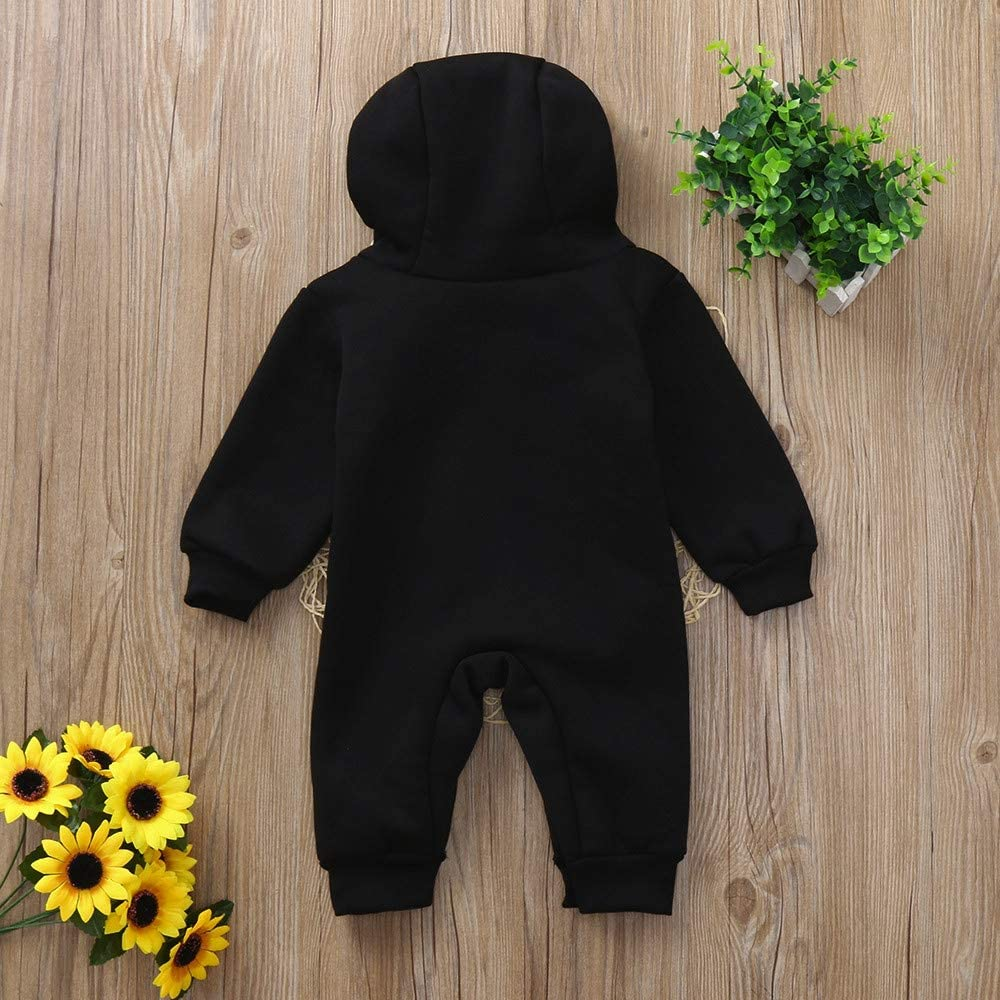 2019 New Toddler Kids Jumpsuits,Baby Boys Girls Hoodie Outfits Mini Boss Letters Printed Playsuit Clothes