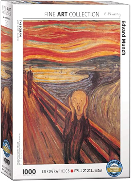 EuroGraphics The Scream by Edvard Munch Puzzle (1000-Piece), (Model: 6000-4489)