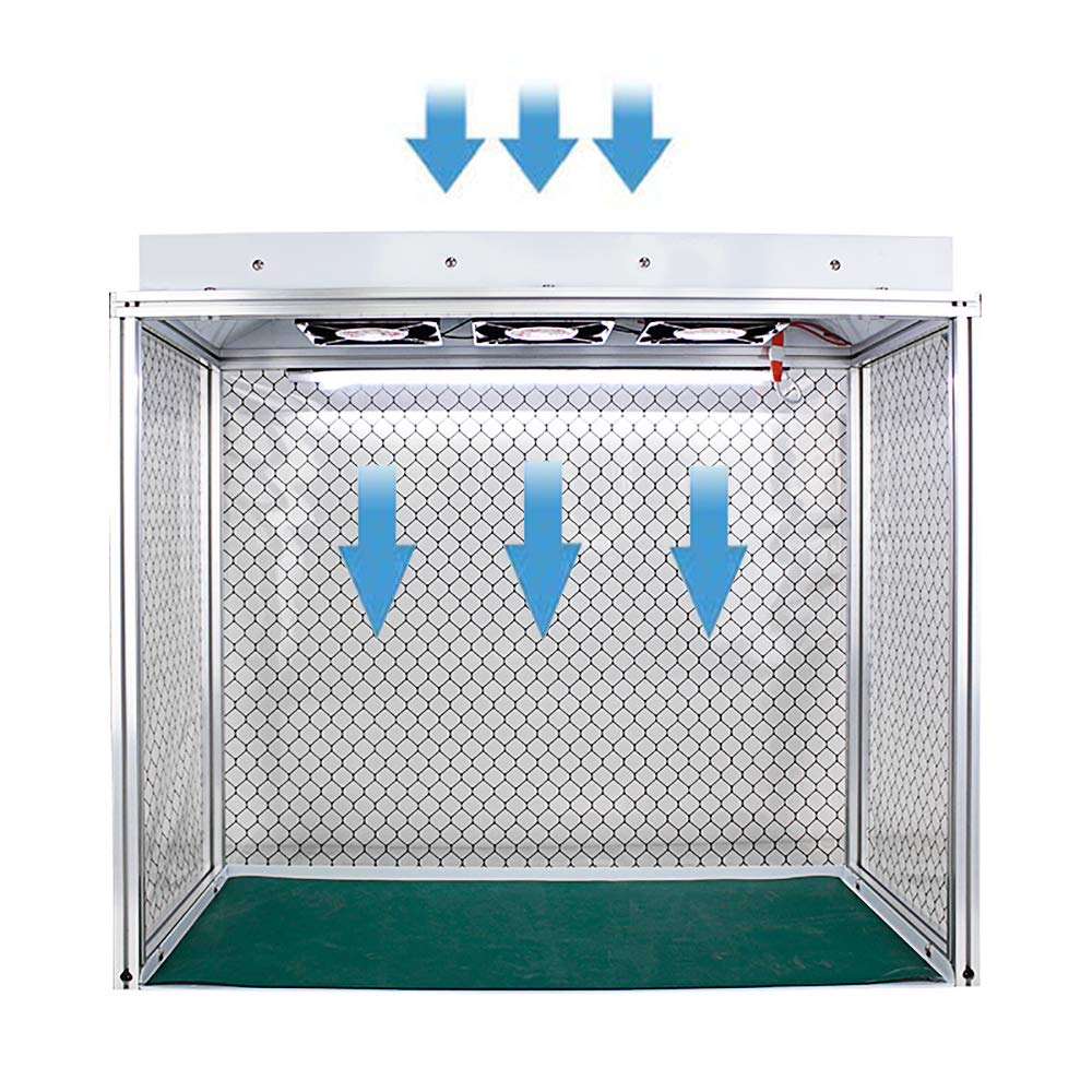 YJINGRUI Air Flow Clean Banco de flujo vertical para campana extractora de flujo laminar, unidad de filtro para limpieza de clase 100, sin polvo, trabajo con tres ventiladores, 110V, 1