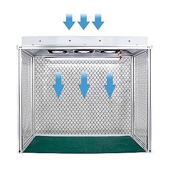 YJINGRUI Air Flow Clean Banco de flujo vertical para campana extractora de flujo laminar, unidad de filtro para limpieza de clase 100, sin polvo, trabajo con tres ventiladores, 220V, 1: Amazon.es: Bricolaje