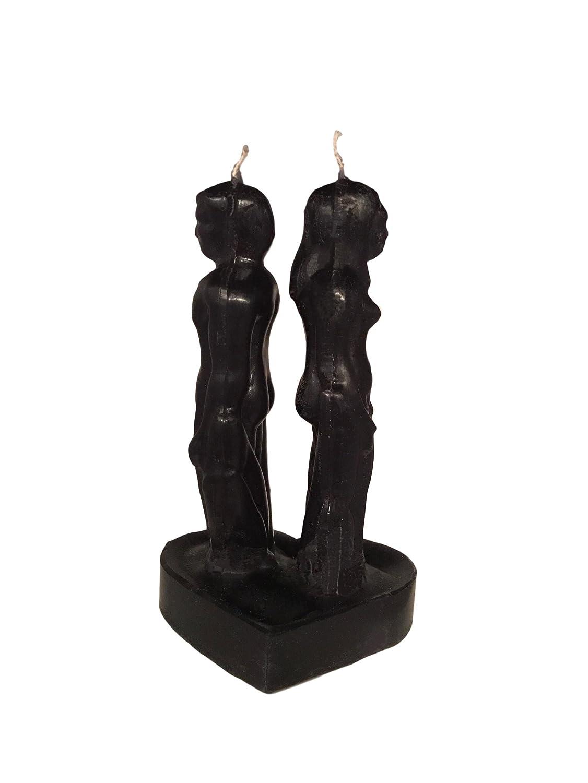ホットセール Black Man & Black Woman B077SQQQPG Back to & Back Tall Separation Break Up Candle B077SQQQPG, ココチヤ:76cdd446 --- egreensolutions.ca