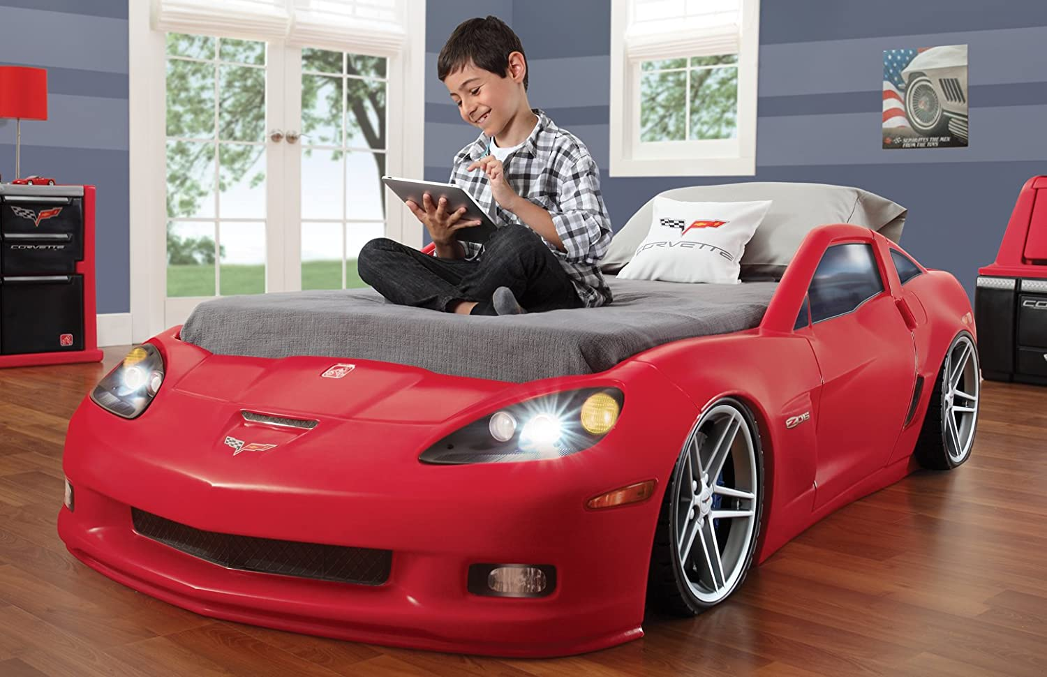 Buy Step2 Corvette Bed Toddler To Twin With Lights Online At Low Prices In India