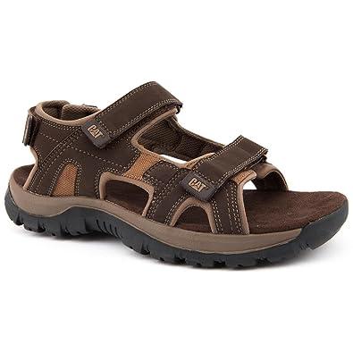 ce86fc04f Mens Caterpillar Cat Giles Brown Sandals Size 12  Amazon.co.uk ...