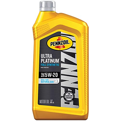 Pennzoil Ultra Platinum Full Synthetic Motor Oil 5W-20, 1 Quart - Pack of 1