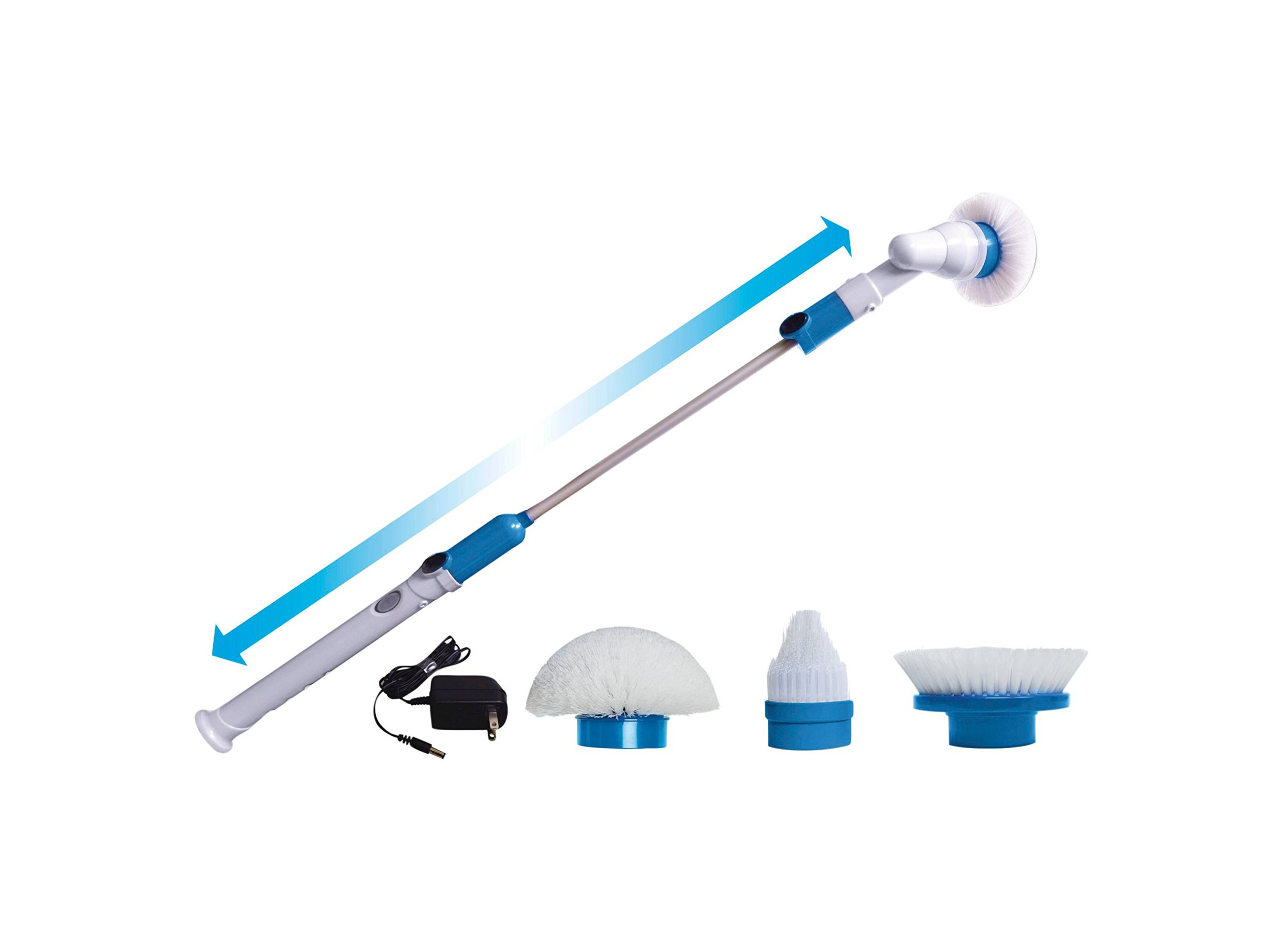 Hurricane Spin Scrubber | Includes 3 Scrubbing Heads and Charger | As Seen On TV